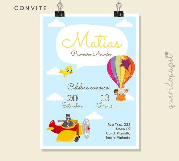 Convite Mundo Bita, Ideias Mundo Bita, Convite Barato Mundo Bita