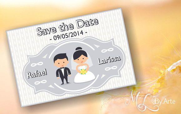 Arte Digital Para Convite  Save The Date , No Tamanho 10 X 15 Cm