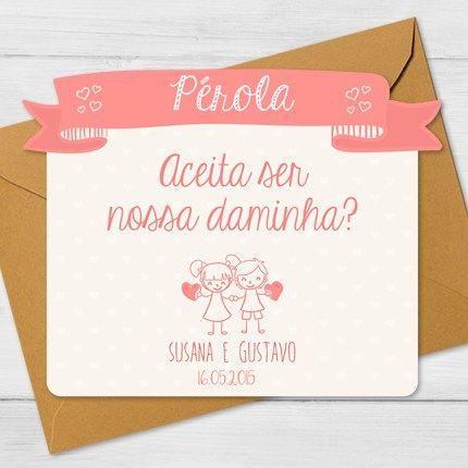 H3 Convites Para Daminhas E Pajens  H3  Lindos Convites Para