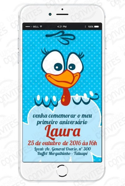 Convite Virtual Tema Galinha Pintadinha Para Whatsapp E Redes