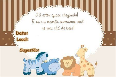 Convites De Chá De Bebê Para Imprimir