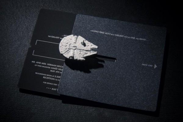 Convite De Casamento Com Miniaturas De Star Wars!
