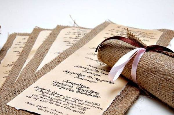 Convite De Casamento Envelope De Juta [4]