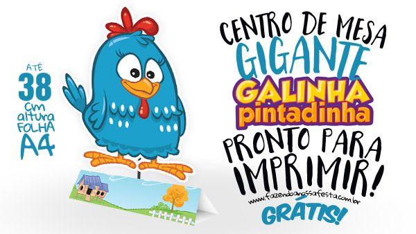 Centro De Mesa Galinha Pintadinha Para Imprimir