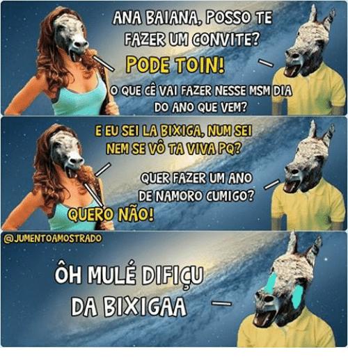 Ana Baiana Posso Te Fazerum Convite  Pode Toin! O Que Ce Vai Fazer