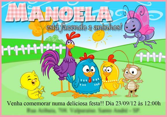 Arte Convite Virtual Galinha Pintadinha No Elo7