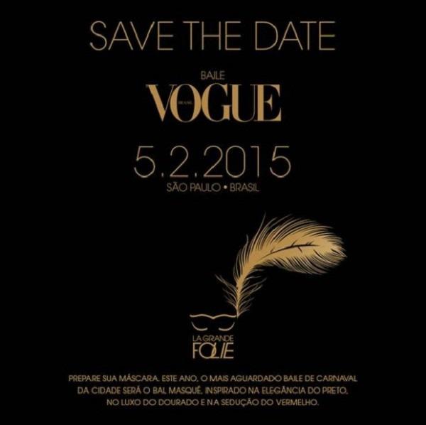 Baile De Carnaval Da Vogue 2015 Traz Como Tema Principal La Grande