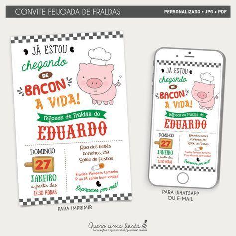 Convite Feijoada De Fraldas