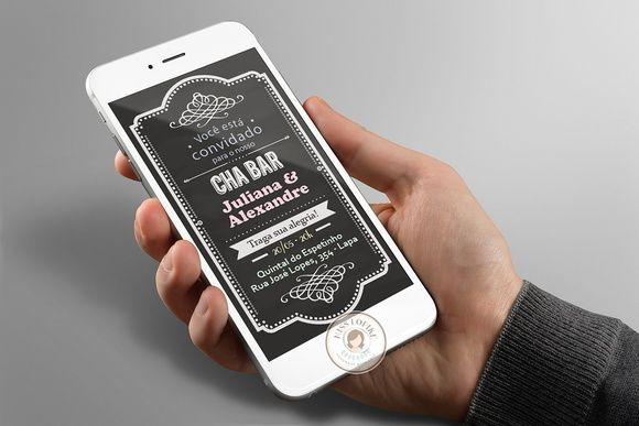 Arte Para Convite Digital ( Envio Pelo Whatsapp E Redes Sociais