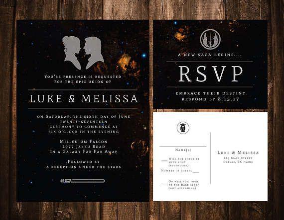 Star Wars Wedding Invitation