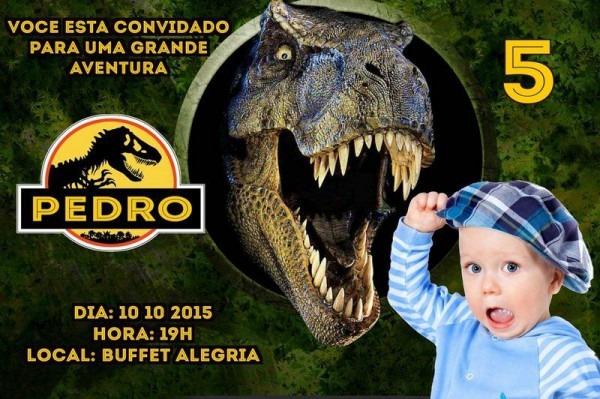 Convite Digital Personalizado Jurassic Park  O Parque Dos