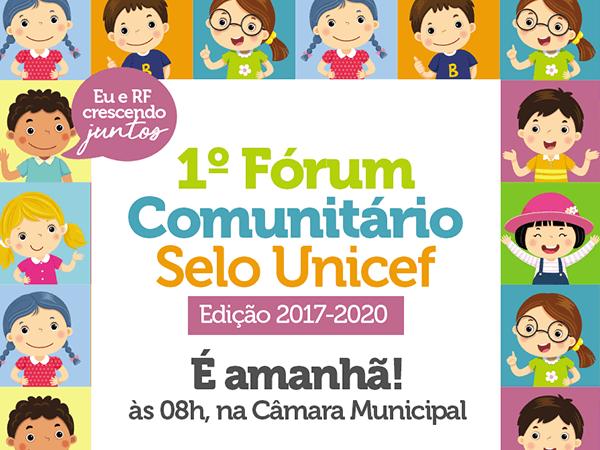Convite  1° Fórum Comunitário Do Selo Unicef Edição 2017