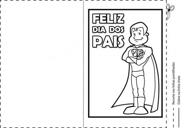 CartÕes Do Dia Dos Pais Para Imprimir E Colorir