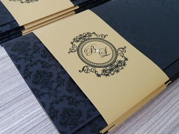 Valor Para O Convite De Envelope Preto, Faixa Com Várias Opções De