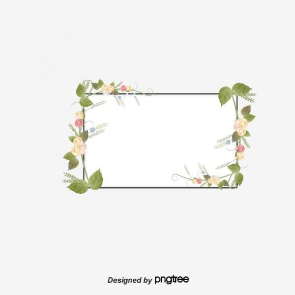 As Bordas Decorativas Flores Plantas Verde Png E Vetor Para