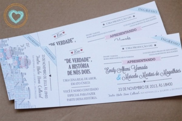 Convite Em Forma De Ingresso Ou Vinil  Dúvida Cruel