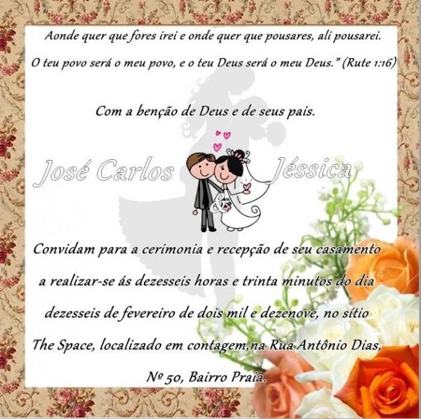 Fiz Meu Próprio Convite De Casamento