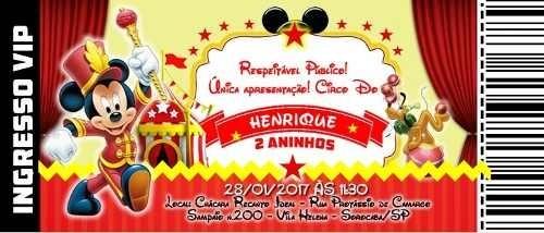 Circo Do Mickey Mouse