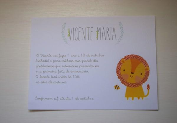 My Happy Kids   1 Ano De Vicente  O Convite Da Festa