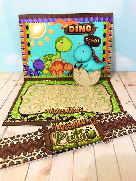 Convite 3d Dinossauro Luxo