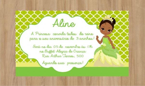 Convite A Princesa E O Sapo Frete Grátis No Elo7