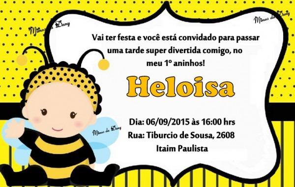 Convite Abelhinha No Elo7
