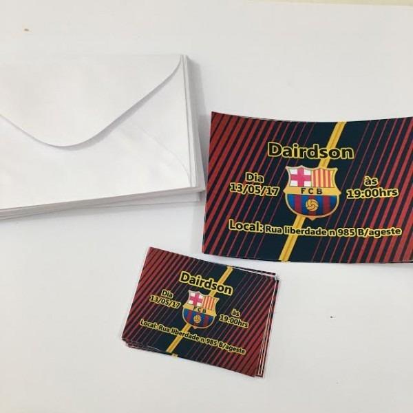 30 Convite Barcelona Com Envelope No Elo7