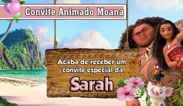 Convite Animado Moana No Elo7