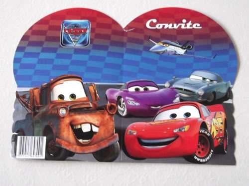 Convite Carros 2 Especial (10 Convites)