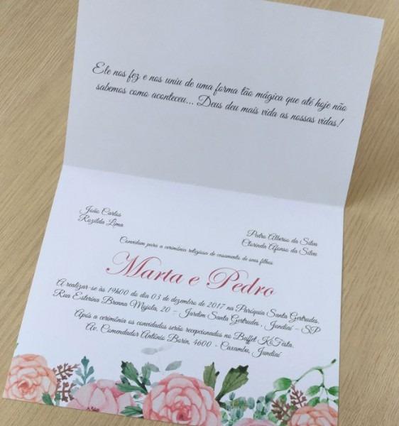 Convite Casamento Boho Chic No Elo7