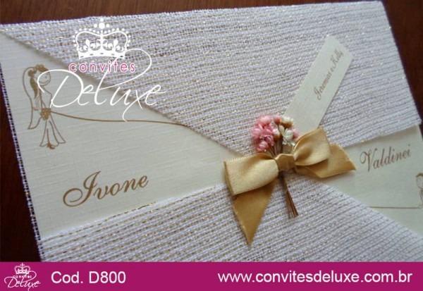 Convite De Casamento Rústico Chique