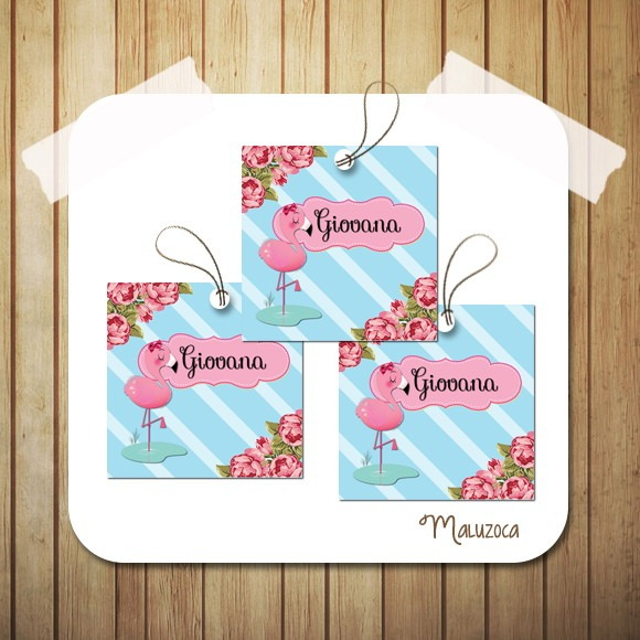 Tag Flamingo Chá De Bebê No Elo7