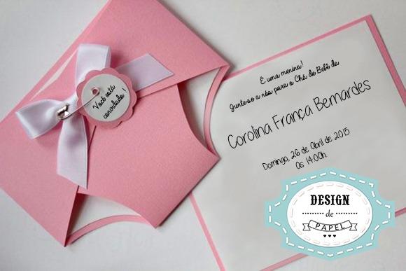 Convite Formato Fralda