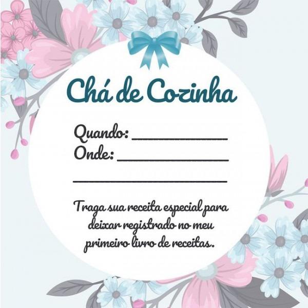 Convite De Chá De Cozinha  Veja Ideias (+27 Modelos Para Imprimir)