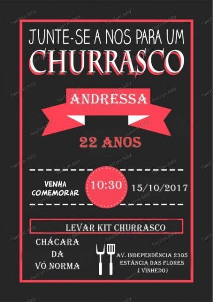 Convite Churrasco – 40 Modelos P  Convidar Seus Amigos E Família!