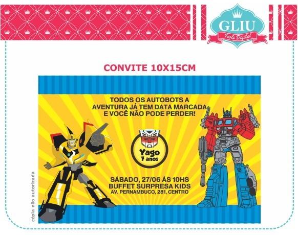 Convite De Aniversario Transformers Para Imprimir 5 » Happy
