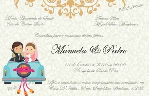 Convite De Casamento Simples No Elo7