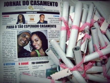 Convite De Casamento Tipo Jornal  Como Fazer, Ideias E Fotos