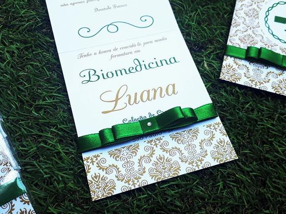 Convite De Formatura Biomedicina Verde Personalizado