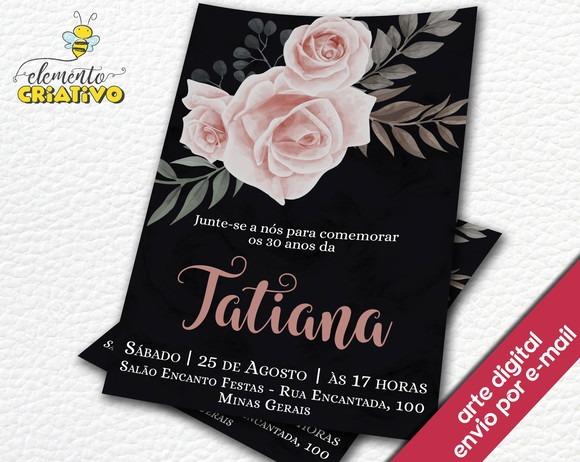Convite Digital De Aniversario De 30 Anos Coracoes Rosa