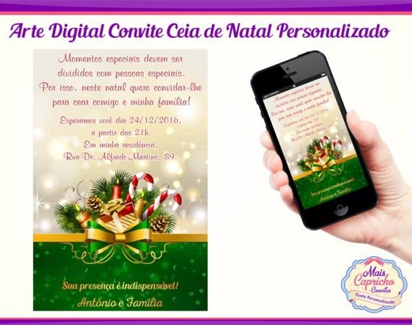 Convite Digital Ceia De Natal No Elo7