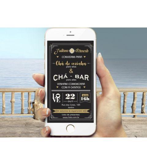 Convite Digital Chá Bar E Cozinha