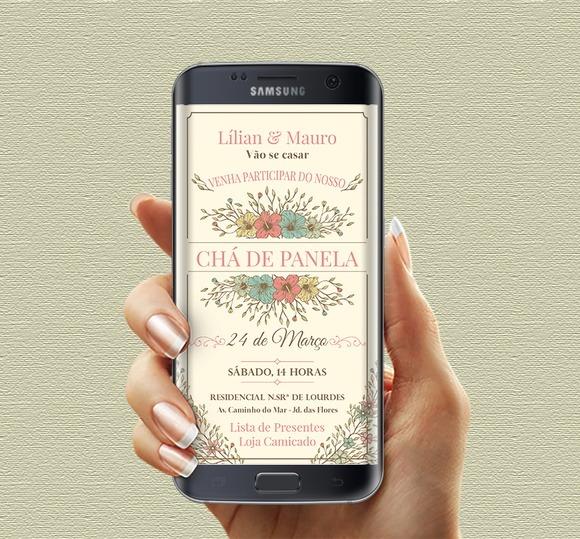 Convite Cha De Panela Para Whatsapp