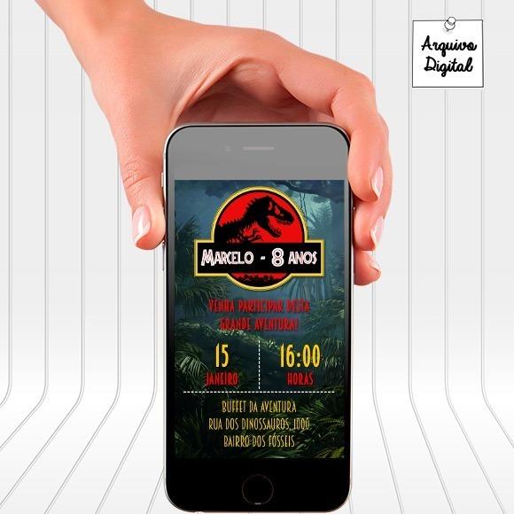 Convite Digital Jurassic Park