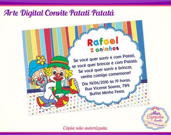 Convite Digital Patati Patatá No Elo7