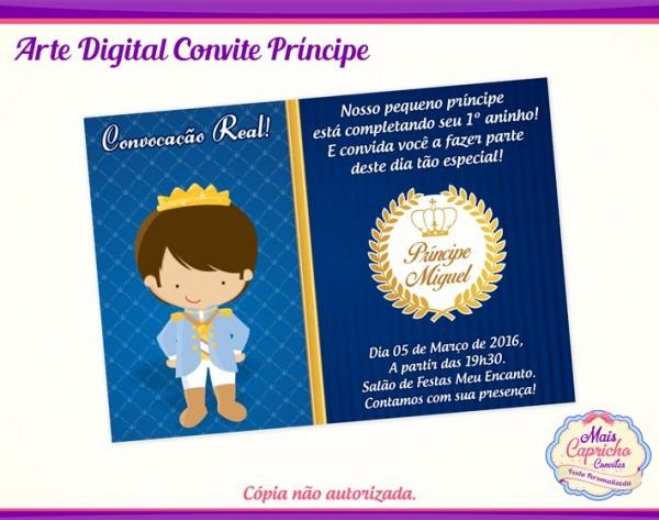 Convite Digital Príncipe No Elo7