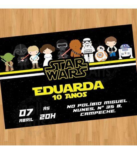 Convite Digital Virtual Star Wars