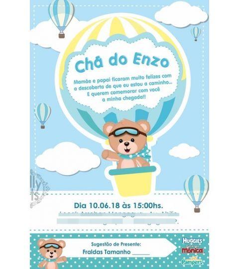 Convite Digital Virtual Ursinho Baloeiro