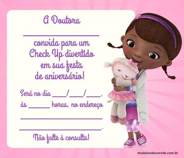 Convite Da Doutora Brinquedos