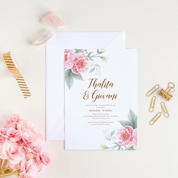 Convite Digital De Casamento Floral – Studio Pomme